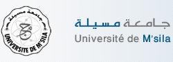 logoUniversité Mohamed Boudiaf M'Sila