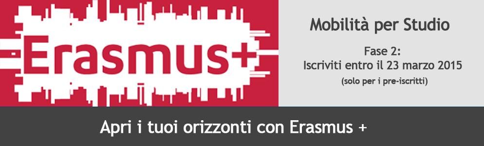 Erasmus+ mobilità per studio