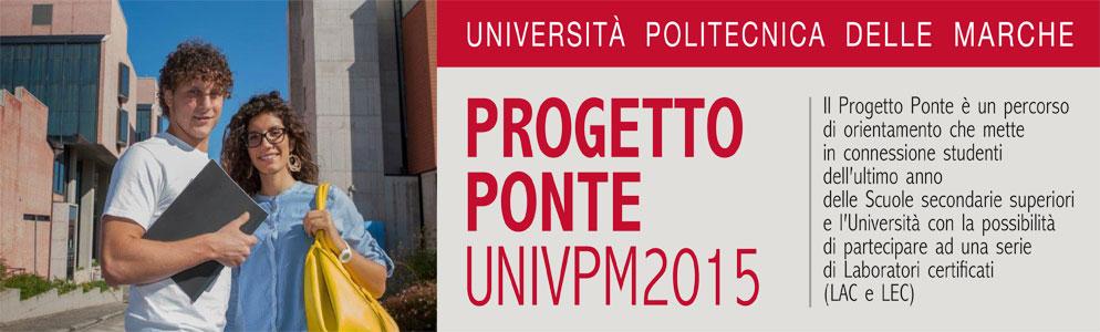 Progetto Ponte UNIVPM 2015