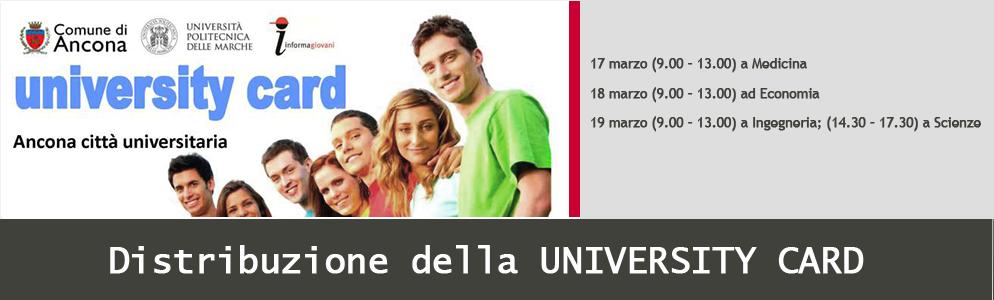 Distribuzione University Card