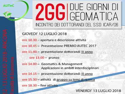 incontro: 2GG Due giorni di Geomatica