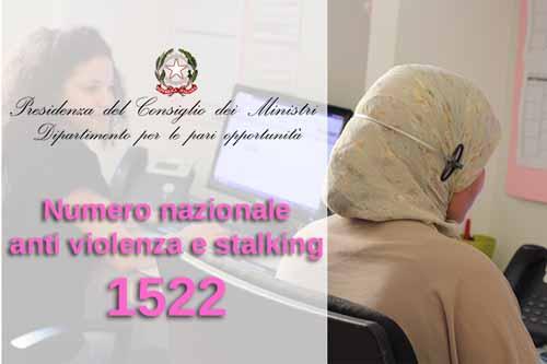 Numero nazionale antiviolenza e stalking 1522