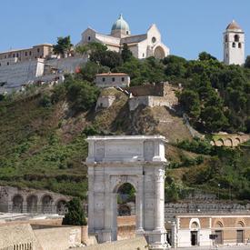 Romanesque Cathedral of San Ciriaco  on the Guasco hill