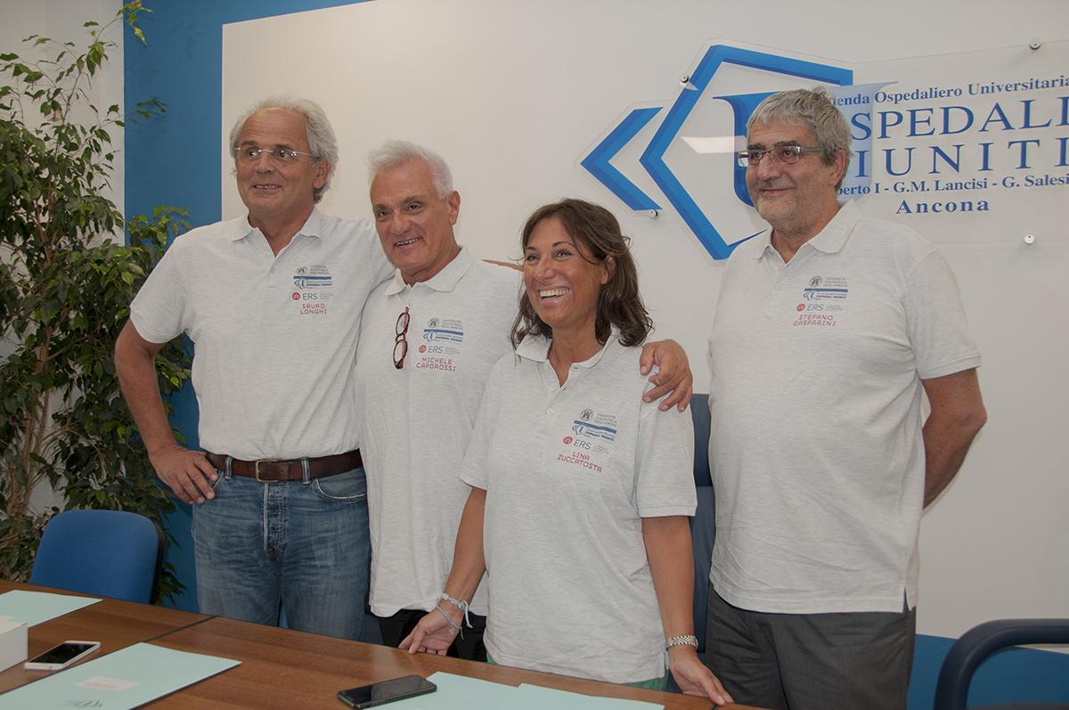 Prof. Longhi, Dr. Caporossi, Dr.ssa Zuccatosta, Prof. Gasparini.