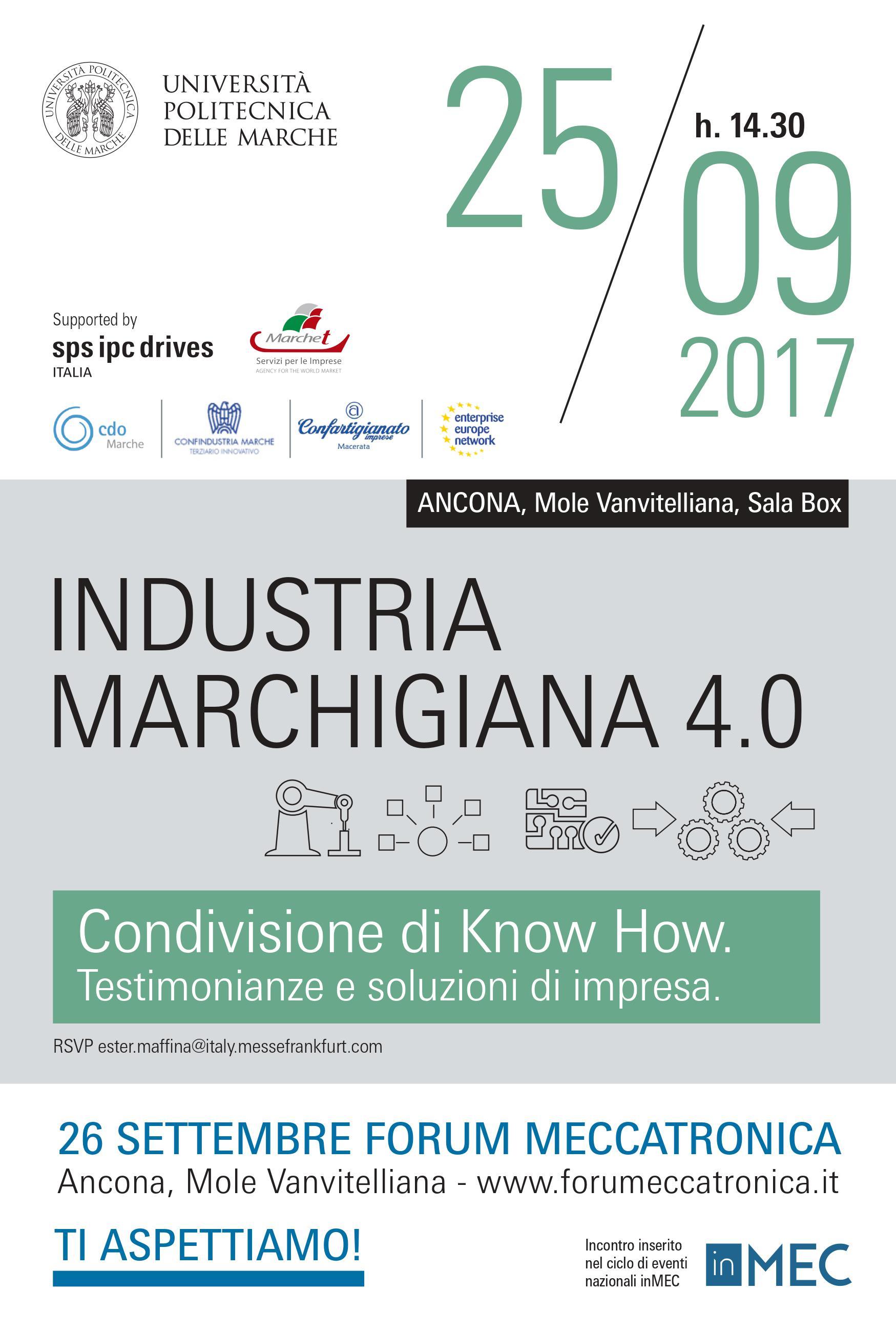 Industria Marchigiana 4.0: testimonianze di impresa