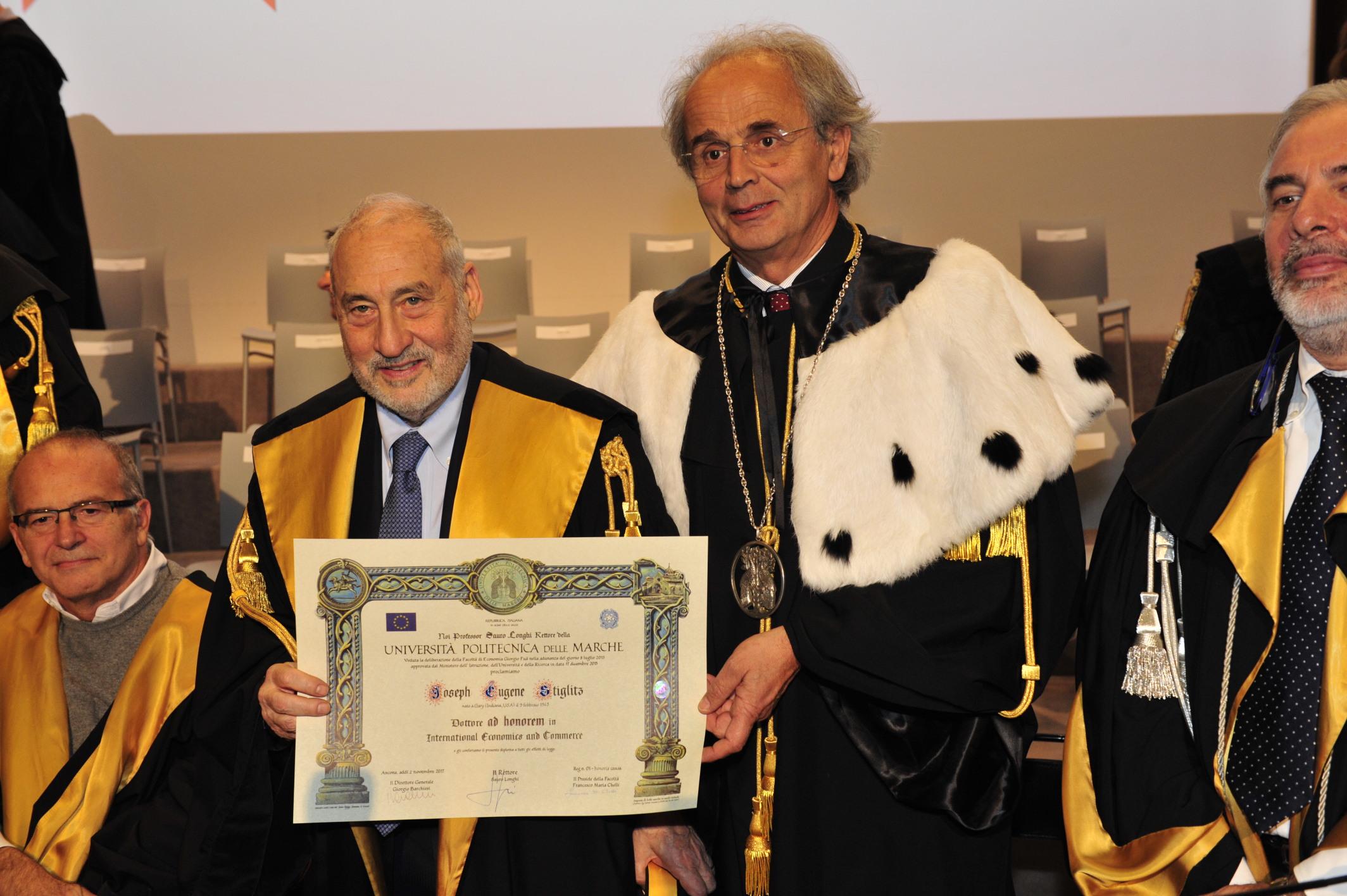 Laurea Honoris Causa a Joseph E. Stiglitz