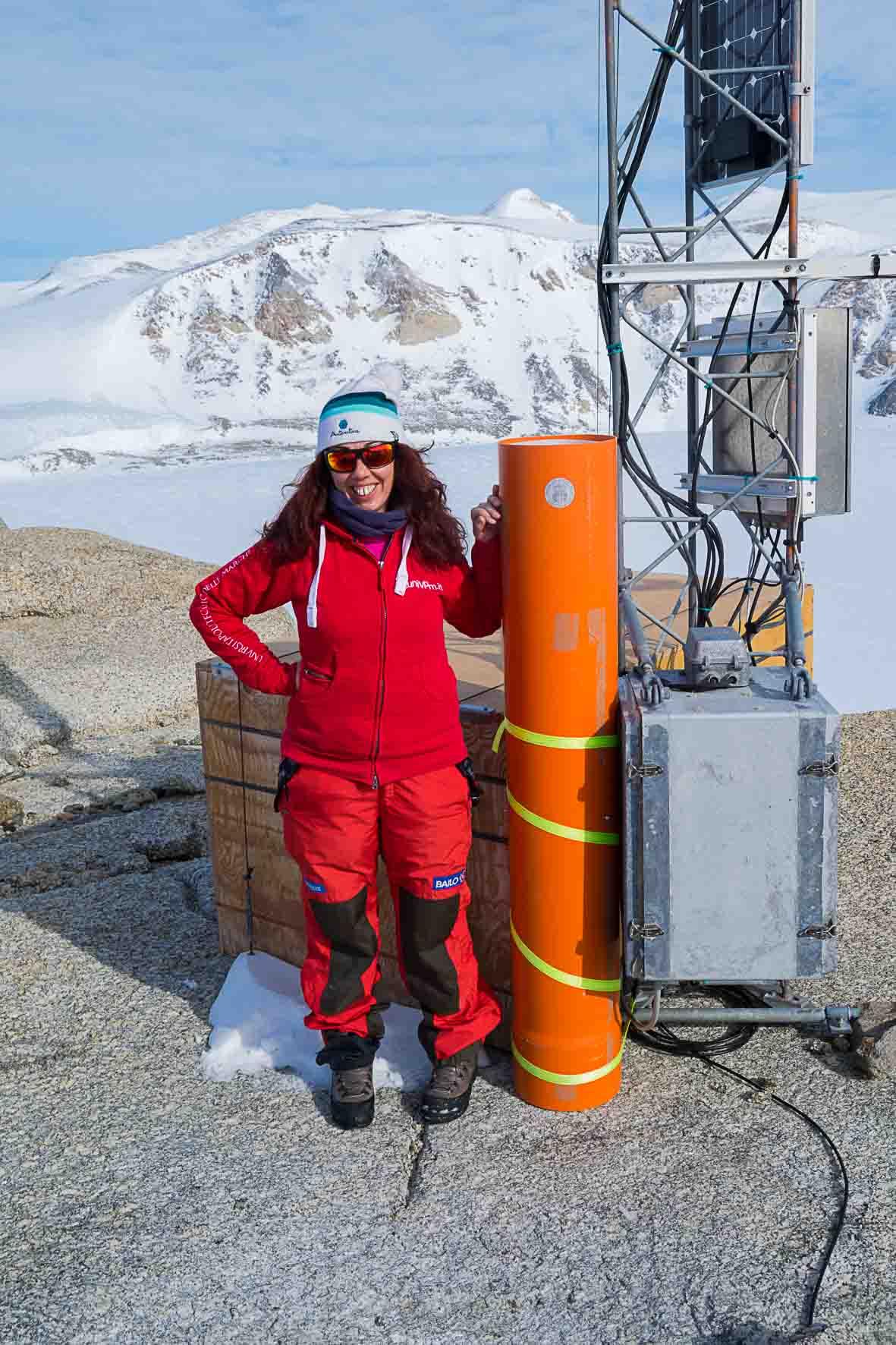 Silvia Illuminati in Antartide