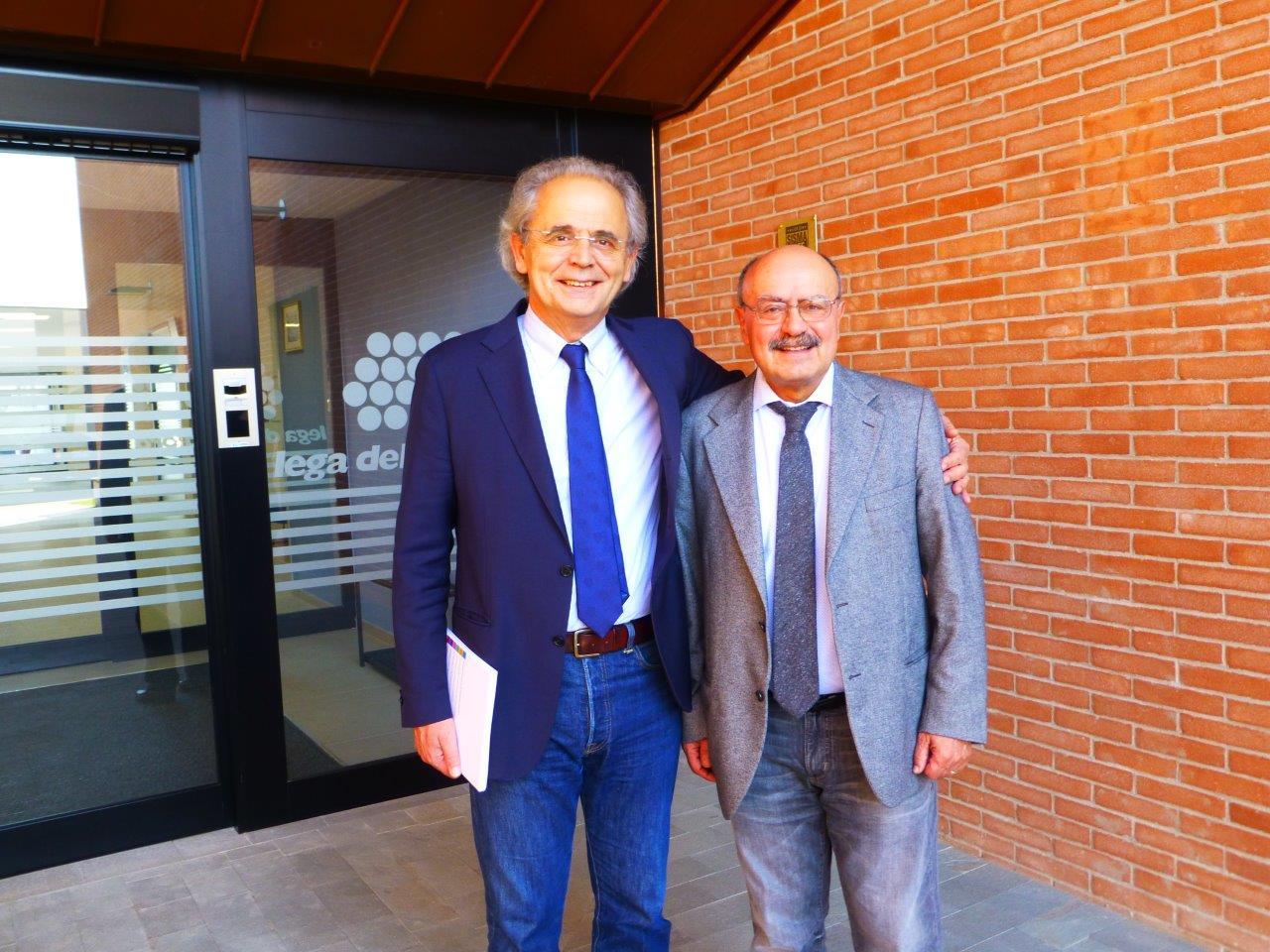 Il Rettore Longhi con il Presidente Rossano Bartoli