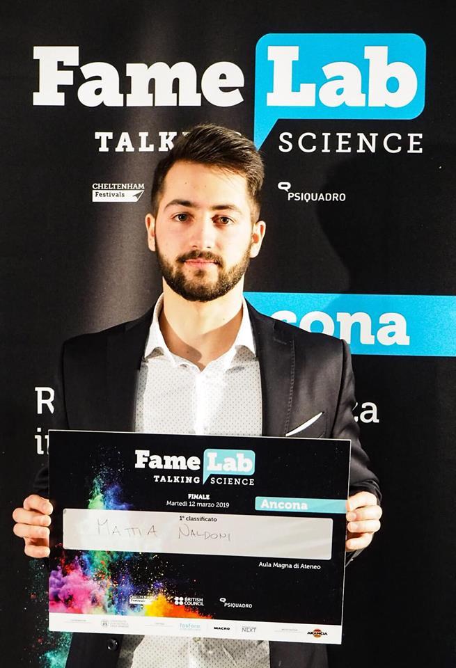 Famelab Ancona 2019 Mattia Naldoni 1 posto