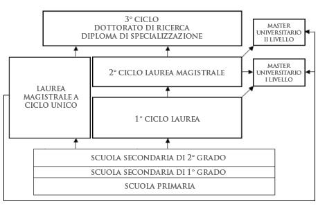 schema del sistema universitario