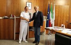 Il Rettore incontra l'Ammiraglio Bianchi