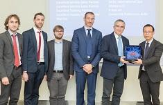 Foto della premiazione Huawei Italy Enterprise Service Conference 2017