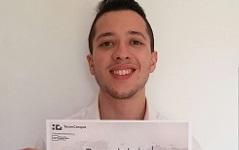 Erasmus: Gabriele studente dell'anno