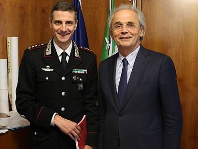 Il Rettore incontra il nuovo Comandante Provinciale dei Carabinieri