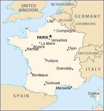 Bordeaux Francia Cartina.Univpm Accordi Programma Erasmus Francia
