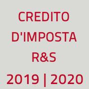 immagine con scritta credito d'imposta 2019-2020