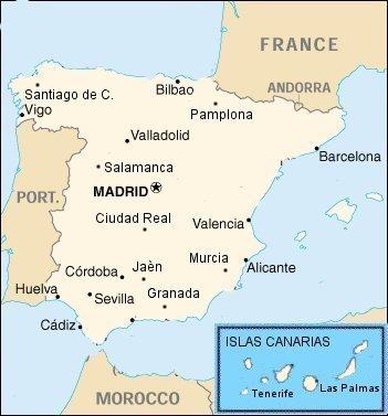 Cartina Huelva Spagna.Univpm Accordi Programma Erasmus