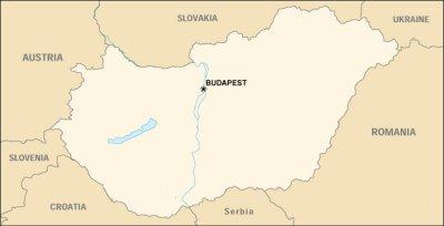 Cartina dell'Ungheria