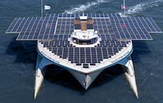 Un catamarano a energia solare per la ricerca